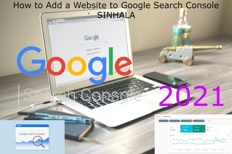 How to Add a Website to Google Search Console SINHALA 2021